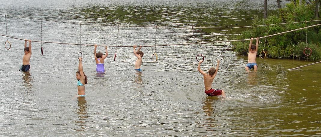 Hébertisme H20 - Activités- Camp de vacances et de plein air quatre saisons - Boute-en-Train