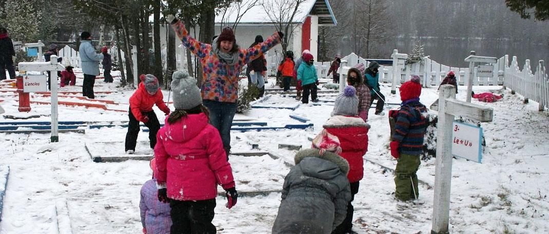Classes blanches - Classes natures du Camp Boute-en-train - Centre de vacances et de plein air quatre saisons